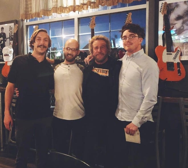 Members of The Ohio Weather Band met Sammy Hagar at an event in Hudson. Now the band from Alliance is opening for Hagar and his band The Circle on Sunday at The Agora Theatre in Cleveland at a concert benefiting Akron Children's Hospital and local food banks.