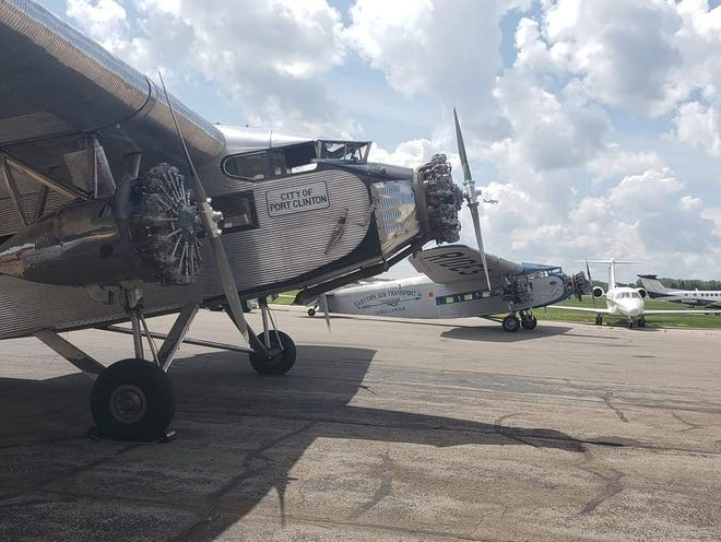 A Ford Tri-Motor airplane from the post-World War I era will offer rides at the Southwest Michigan Regional Airport.