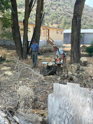 Clean-up work on the permeant homeless urban camp site was done in Yreka on Saturday,  July 24.