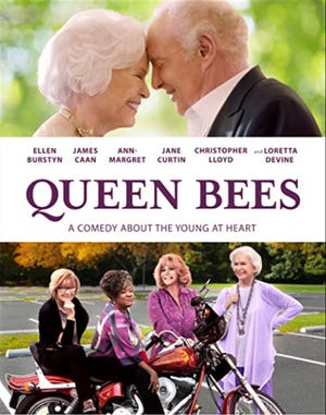"""A promotional poster for """"Queen Bees."""""""