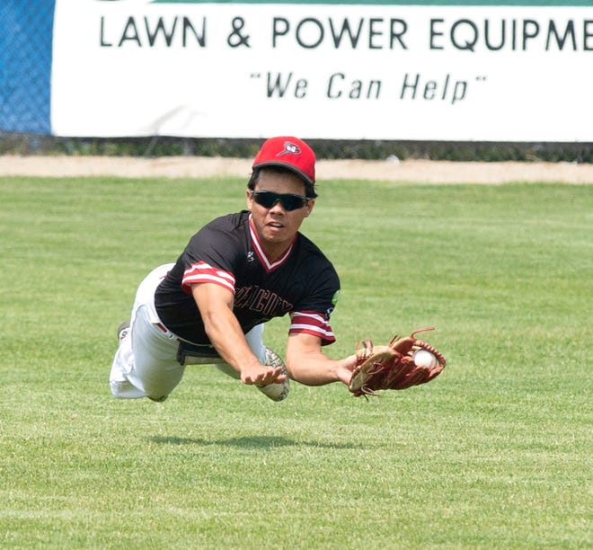 The Bombers Cristian Tejada dives to make a catch in action earlier this season. The Bombers begin their final week of the season with home games Monday-Saturday.