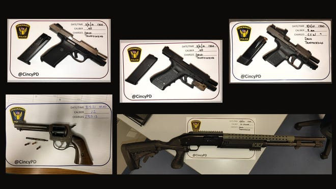 Police said these gun were recovered in Avondale Thursday during the execution of a search warrant.