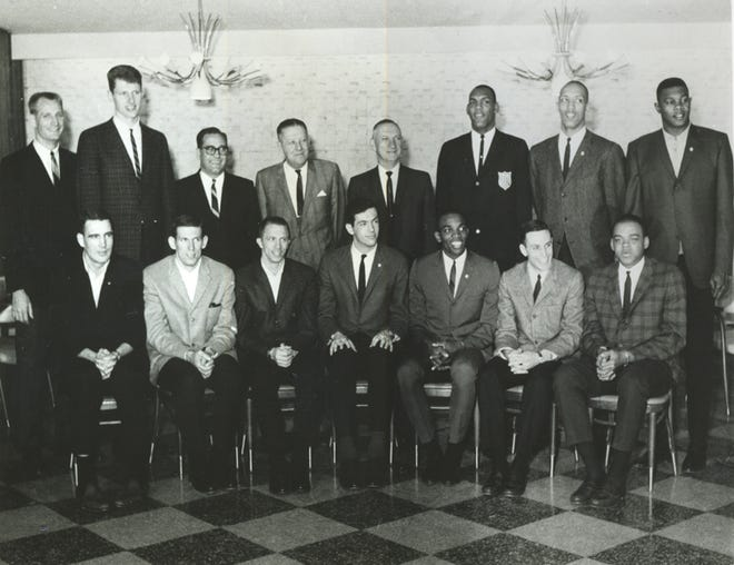 The 1964 U.S. Olympic men's basketball team including Arizona State's Joe Caldwell went 9-0, winning a gold medal in Tokyo.