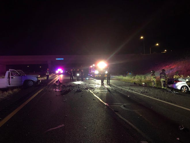 A wrong-way driver caused a collision on State Route89A and Granite Dells Parkway early Thursday morning.