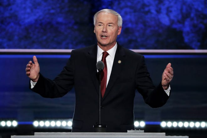 Arkansas Gov. Asa Hutchinson (R-AR) pictured on July 19, 2016. (Alex Wong/Getty Images/TNS)