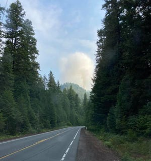 The Knoll Fire, located between Highway 126 and Deer Creek Road along FS Road 2654, has brought evacuations for Olallie Campground, Deer Creek Hot Springs and dispersed campsites near the springs are being evacuated in the McKenzie River area.