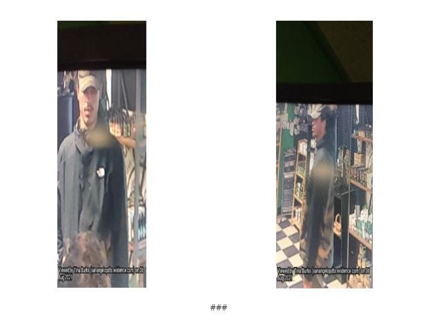 """The San Angelo Police Department is asking the public for help in identifying this man connected to Angelo State University student, Lydelix """"Lilo"""" Marti, who was reported missing."""