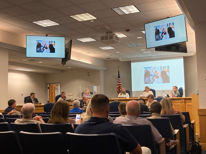 Staunton City Council during their regular meeting in July for the year in review presentation.