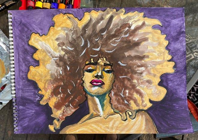 Indya Watercolor And Ink 2021 by Savannah Salinas