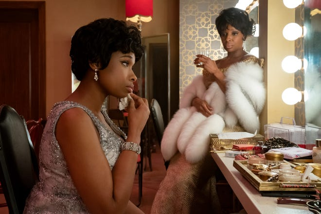 """Jennifer Hudson plays Aretha Franklin while Mary J. Blige is blues legend Dinah Washington in """"Respect."""""""