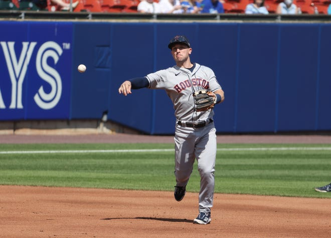 The Astros' Alex Bregman is in Round Rock this weekend with the Sugar Land Skeeters on a rehab assignment prompted by leg injuries.