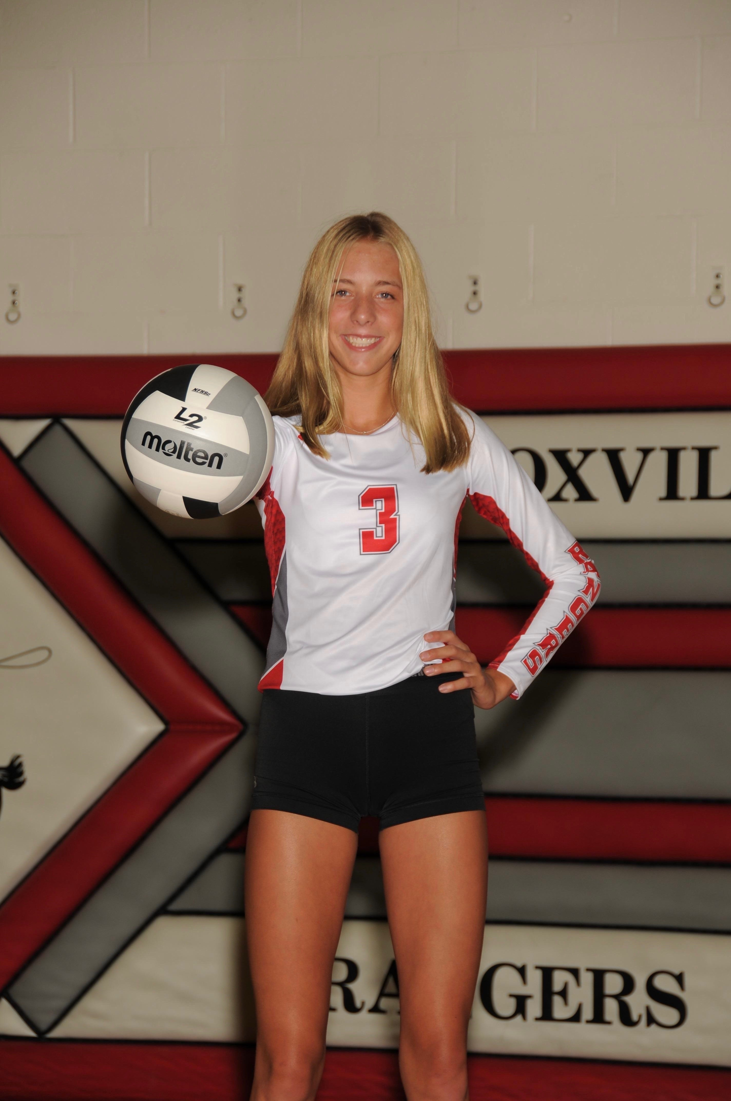 Carsyn Henschen of New Knoxville  is one of the best volleyball players in the state