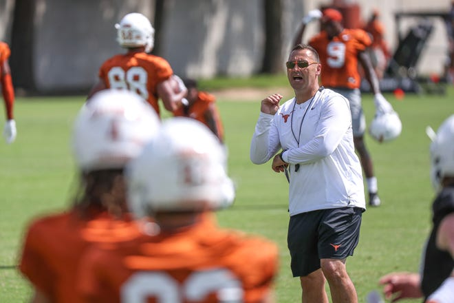 Texas coach Steve Sarkisian has had to strike a delicate balance during preseason practices, wanting his new players to drill hard and make plays but also to avoid significant injuries before the Sept. 4 season opener.
