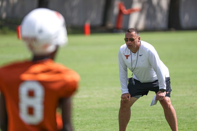 Texas coach Steve Sarkisian was excited about the defense during Saturday's closed scrimmage, but he said the offense needs to improve.
