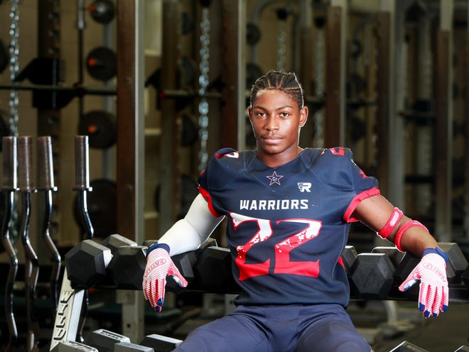 Grovetown's Marcus Washington Jr. is photographed at Grovetown High School. Washington is part of The Augusta Chronicle's Dream 16 [CHRIS THELEN/SPECIAL TO THE AUGUSTA CHRONICLE].
