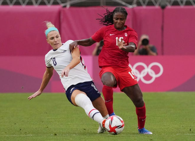 Former Buckeye Nichelle Prince started every game to help Canada win a gold medal at the Tokyo Olympics.