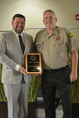 Camden County Prosecutor Caleb Cunnigham with Camden County Sheriff Tony Helms.