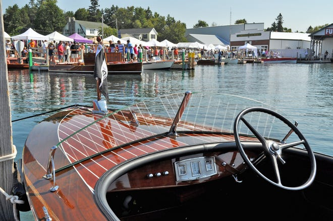 The one-day Les Cheneaux Islands Antique Wooden Boat Show returns this weekend on Saturday, Aug. 14.
