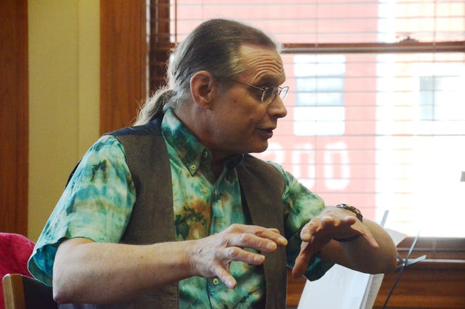 Musician and storyteller Ron Fowler will be kicking off the Music in the Garden music series at the Pellston Library on Tuesday, Aug. 10.