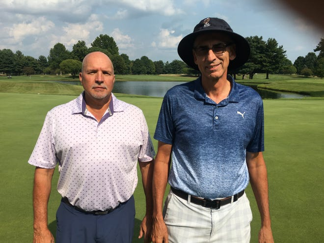 Mike Mann and John Holzapfel posted an eight under par 64 to win the Zoar Golf Club Senior Masters better-ball tournament by one shot.