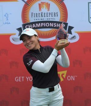 Fernanda Lira won the 2021 FireKeepers Casino Hotel Championship at Battle Creek Country Club on Sunday.
