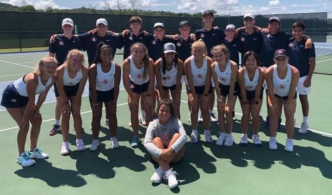 The San Angelo Central High School tennis opened the 2021 fall season by sweeping four matches in a tournament in Kerrville this past weekend.