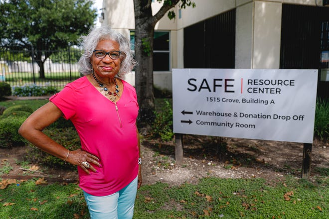 """Frankie Fowler has volunteered with SAFE for 40 years. She started as a volunteer on the hotline for the Center for Battered Women and now does outreach to community groups about safe relationships. """"I didn't start volunteering at SAFE so they would name awards for me or give me plaques,"""" she says. """"... when you give, you receive more and then you give more."""""""