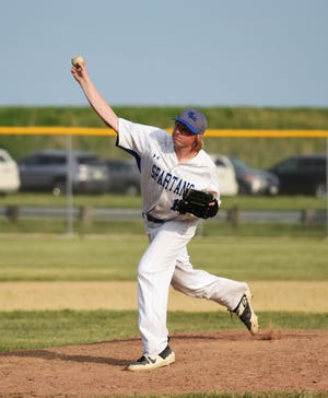Sophomore Caden Hasbrouck went 5-2 on the mound and also hit .448 to help the Collins-Maxwell baseball team post a winning 12-8-1 record and win the Iowa Star Conference South Division in 2021.