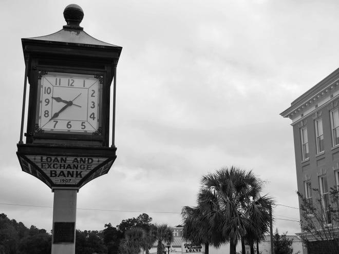 The Lee Avenue Clock, a landmark of downtown Hampton, S.C.
