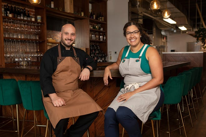 Vinny and Christina Pelino have opened Pelino's Pasta on King Avenue in Dennison Place, the couple's first brick-and-mortar restaurant.