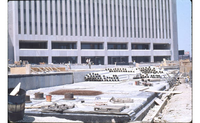 Groundbreaking for the One Nationwide Plaza building was July 12, 1974, with completion in 1977 and dedication a year later. Home to Nationwide Mutual Insurance Co., the 40-story skyscraper was designed by Brubaker/Brandt and remains a fixture of the Columbus skyline as part of a complex of buildings known as Nationwide Plaza. For many years, One Nationwide Plaza featured a glass elevator that went to the One Nation restaurant on the 38th floor of the building.