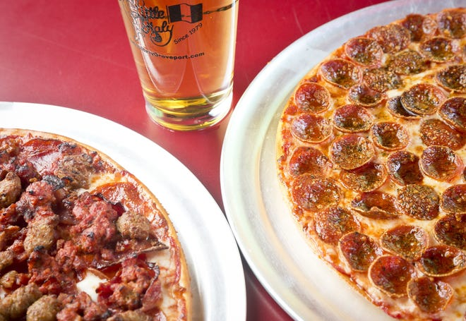 The all-meat pizza and pepperoni pizza at Little Italy Pizza in Groveport.