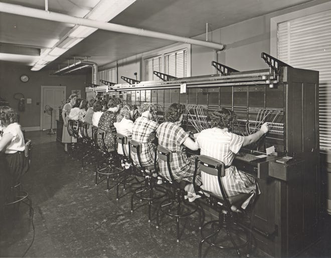 The Illinois Commercial Telephone Co. unveiled a new long-distance switchboard at its Monmouth offices in the summer of 1949. Located on the second floor of 126 S. 1st St., the switchboard required eight operators to make connections, day and night.