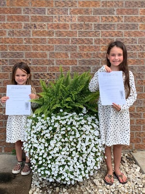 Addison and Avery Clementz are ready to sign up for the 2021 Lil Leaf Cheer Clinic from 9 to 11:30 a.m. on Saturday, Sept. 4, at the Geneseo Middle School. Check-in begins at 8:45 a.m., which is when doors will open. The clinic is for kindergarten through fifth graders and the group will perform at halftime of the freshman football game on Friday, Sept. 10. Cost is $40 per for each child and $20 for each additional sibling. The cost includes a T-shirt and snack. All registrations must be turned in by Thursday, Aug. 19, and after Aug. 19, an additional $5 fee will apply. Registration is available on Facebook under Geneseo Cheer Little Leaf or by mailing registration forms to Kim Cathelyn, 642 Dilenbeck Dr., Geneseo, IL 61254.