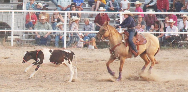 Emmry Edwards of Stephenville, Texas, was the 2021 La Junta Kids Rodeo and Race Meet junior girls all-around champion.