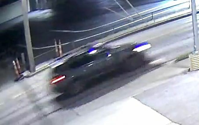 The Leavenworth Police Department released this image of the vehicle that is believed to have been involved in a fatal hit-and-run crash early Saturday morning. The image was captured by a security camera.