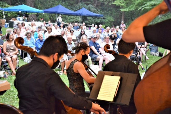 Music By the Mountain's 16th Annual River Garden Symphony on Aug. 8, 2021, featuring Pacific Crest Music Festival Orchestra, was a big at Dunsmuir Botanical Gardens. The best of the best classical youth performers played for a crowd of 160.