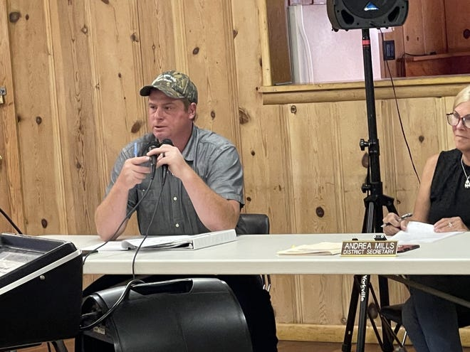 McCloud Community Services District General Manager Amos McAbier at a July 26, 2021 board of directors meeting.