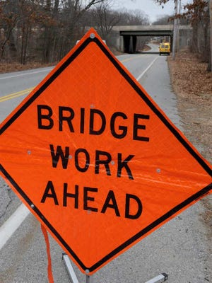 The Ambridge-Aliquippa Bridge will be temporarily reduced to one lane beginning on Monday.