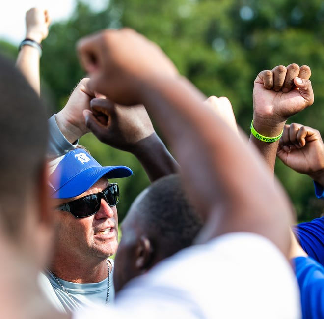 Belleview High School first-year head football coach Brady Ackerman starts career with a win.