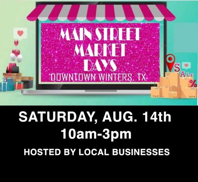 The next Main Street Market Days in Winters will be this Saturday, August 14, from 10 a.m. until 3 p.m.