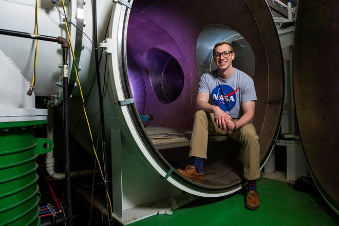 David Lund, a third-year Ph.D. student in aerospace engineering at Missouri University of Science and Technology, has won a NASA Space Technology Graduate Research Opportunity award. Photo by Michael Pierce, Missouri S&T.