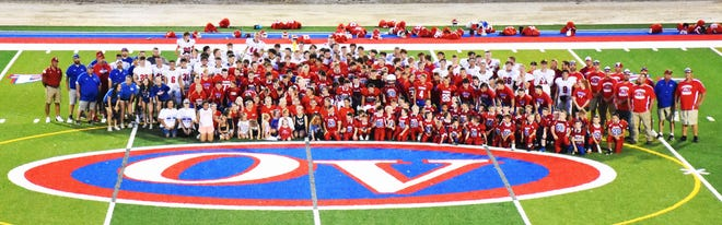 Owen Valley High School hosted the first-ever Patriot Night on the football field, welcoming players in grades 1 through the varsity level to scrimmage on the new turf field. More from the event will be featured this week in the Spencer Evening World.