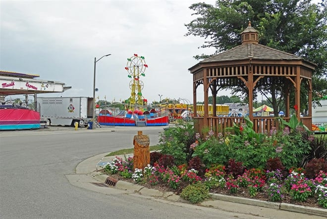 The carnival midway at the Illinois State Fairgrounds in Springfield sits ready to welcome visitors when the Fair opens on Thursday, Aug. 12.
