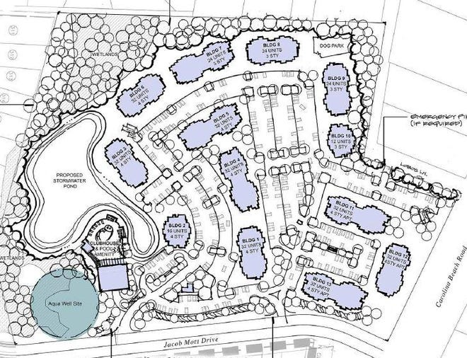 More than 350 apartments have been proposed along Carolina Beach Road.