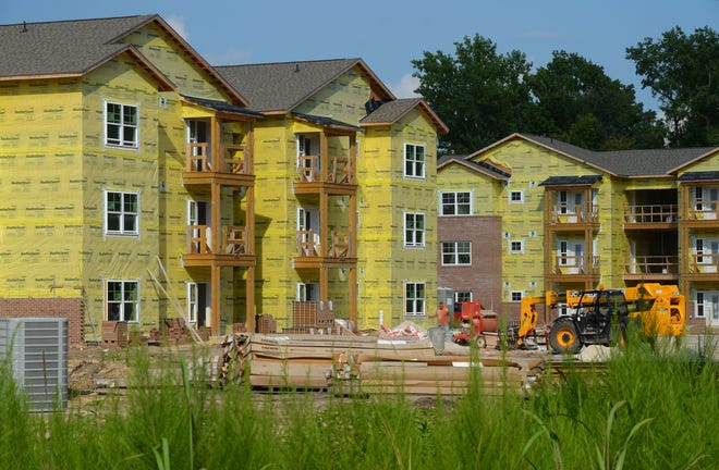 Construction of the new Carolina Avenue Apartments in New Bern is set for completion in November. The 84-unit apartment complex will serve residents who earn up to 60% of the area's median income.