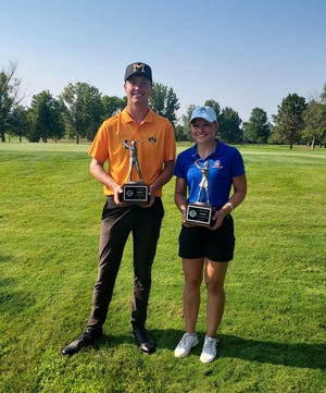 Jack Lundin of Sioux Falls and Lexi Potter of Aberdeen both won their respective divisions at the South Dakota Golf Association Amateur Championship at Moccasin Creek Country Club.