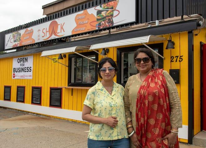 Owners Dimpal Rathod, left, and Roopali Kummarikuntla opened The Shack on Park Avenue along with Kummarikuntla's husband.