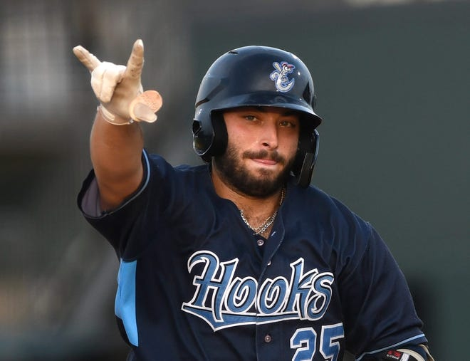 Former St. John's star Scott Manea went 7 for 9 in consecutive games for Corpus Christi (Astros, AA).