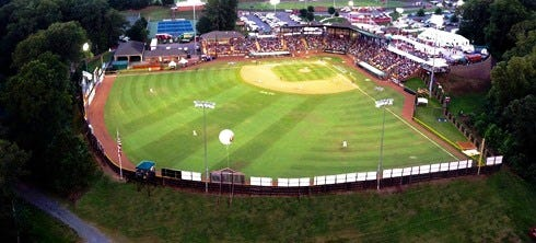 Here's a panoramic view of the renovated Keeter Stadium in Shelby, N.C., the home of the American Legion World Series.